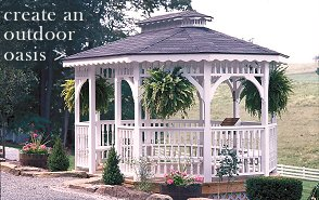 Wooden and Vinyl Gazebos in Ohio
